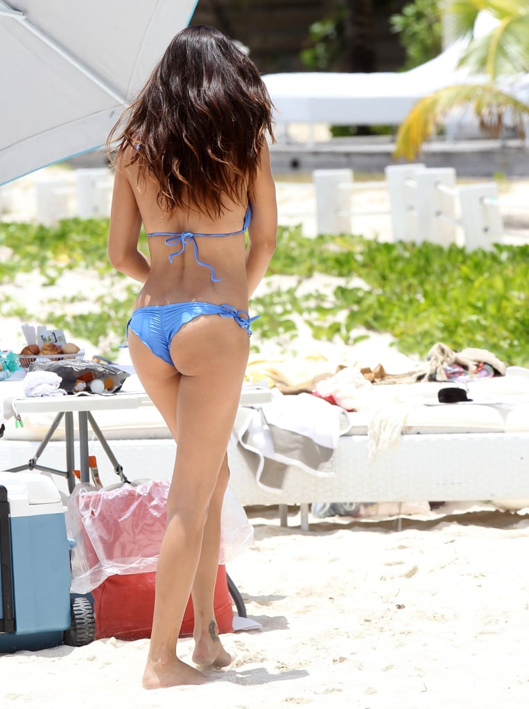 Adriana Lima modeled four different bikinis in St. Barts.