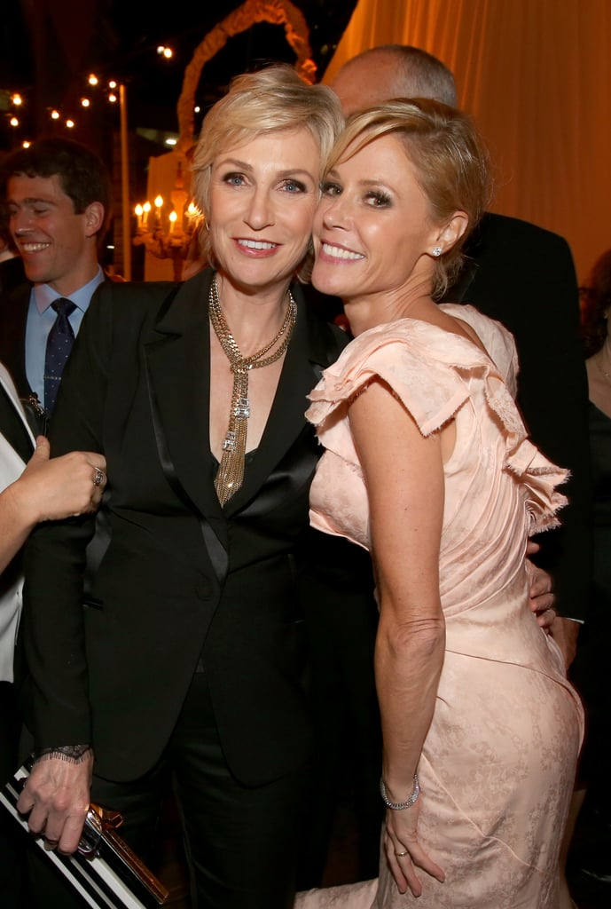 Jane Lynch and Julie Bowen met up at the Fox after paty.