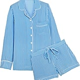 Equipment Lillian Striped Washed-Silk Pajama Set ($390)