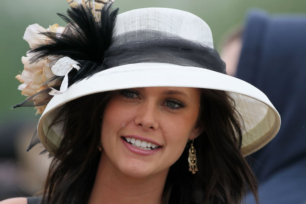 Why do women wear hats at kentucky derby popsugar love for The woman in number 6