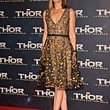 Natalie Portman in Floral Christian Dior at the 2013 Thor: The Dark World Paris Premiere