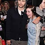 On Sunday, James Franco made one female fan very happy when he posed for a photo in Park City, UT, during Sundance.