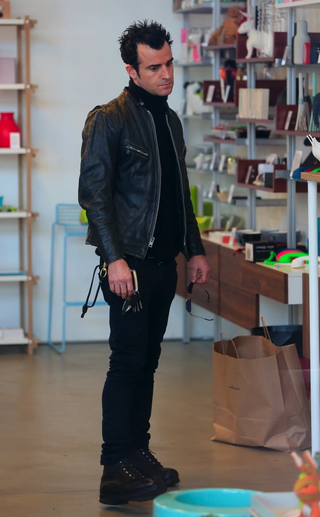 Justin Theroux also visited the Kelly Cole boutique.