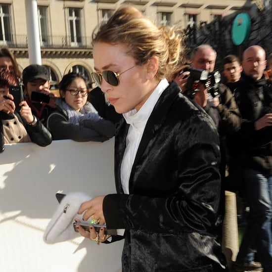 Mary-Kate Olsen Engagement Ring at Louis Vuitton Show