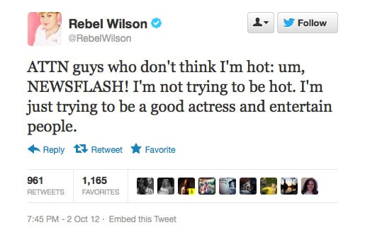Rebel Wilson continues to be our hero.