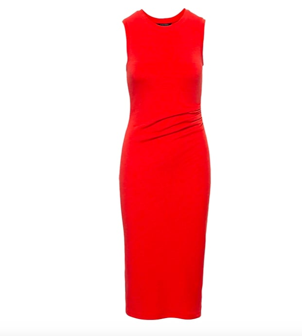 Cozy Knit Side-Rouche Sheath Dress