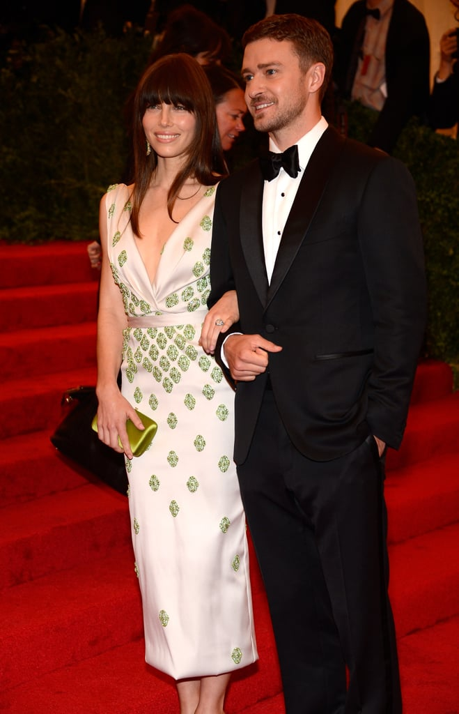 Jessica Biel and Justin Timberlake stepped onto the red carpet of the Met Gala together.