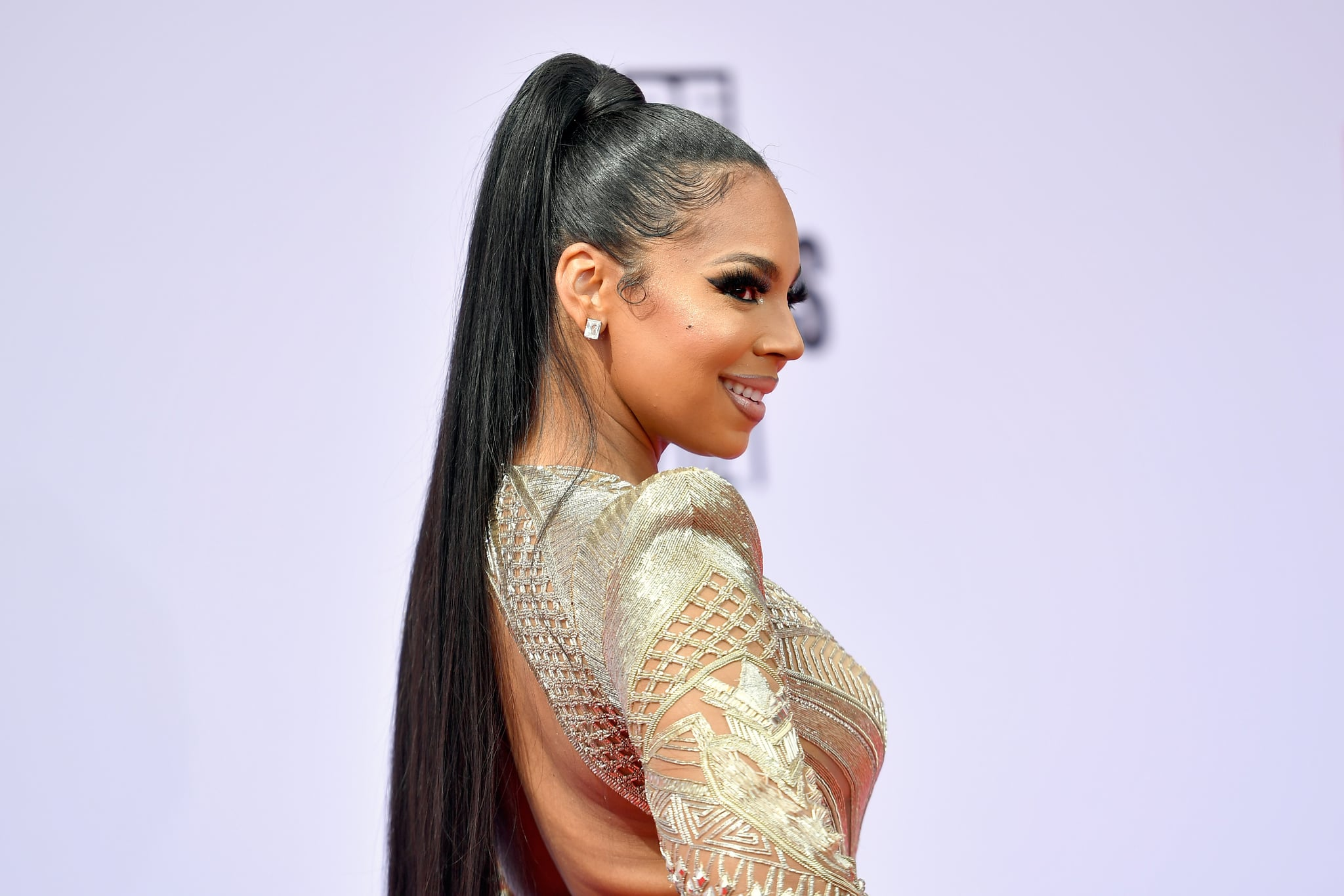 LOS ANGELES, CALIFORNIA - JUNE 27: Ashanti attends the BET Awards 2021 at Microsoft Theater on June 27, 2021 in Los Angeles, California. (Photo by Paras Griffin/Getty Images for BET)