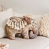 Boho Elephant Throw Pillow