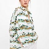 Zara Palm Tree Print Shirt