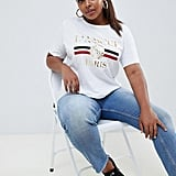 Boohoo Amour Slogan T-Shirt in White