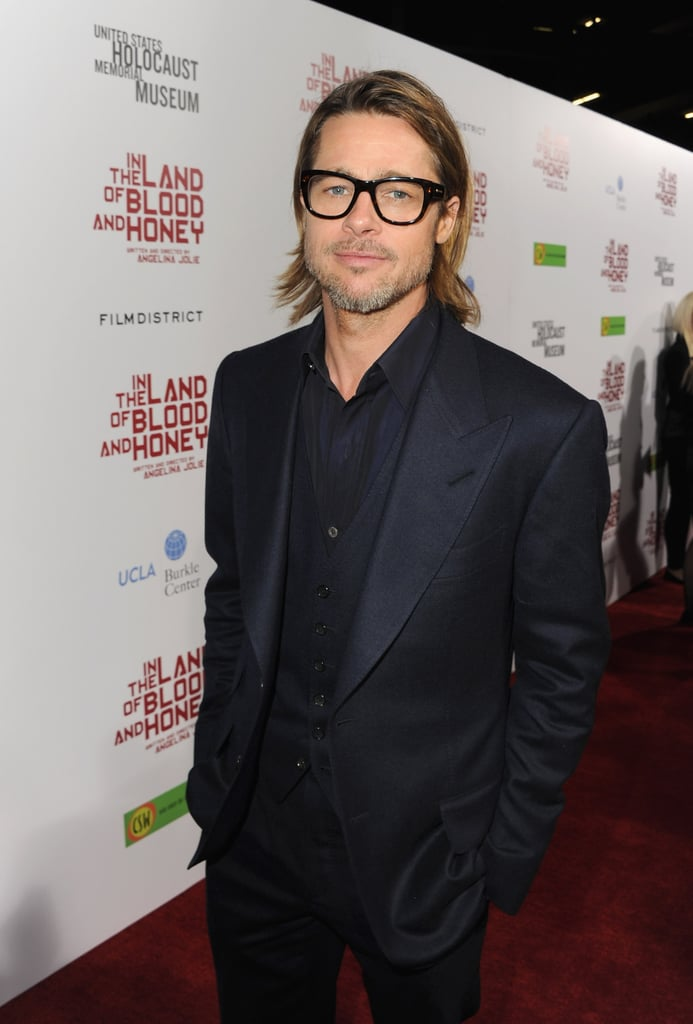 Brad's geek-chic glasses made him even hotter — if that's possible — during the LA premiere of In the Land of Blood and Honey in December 2011.