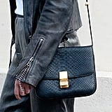 This exotic-finished bag lent awesome texture. Source: Adam Katz Sinding