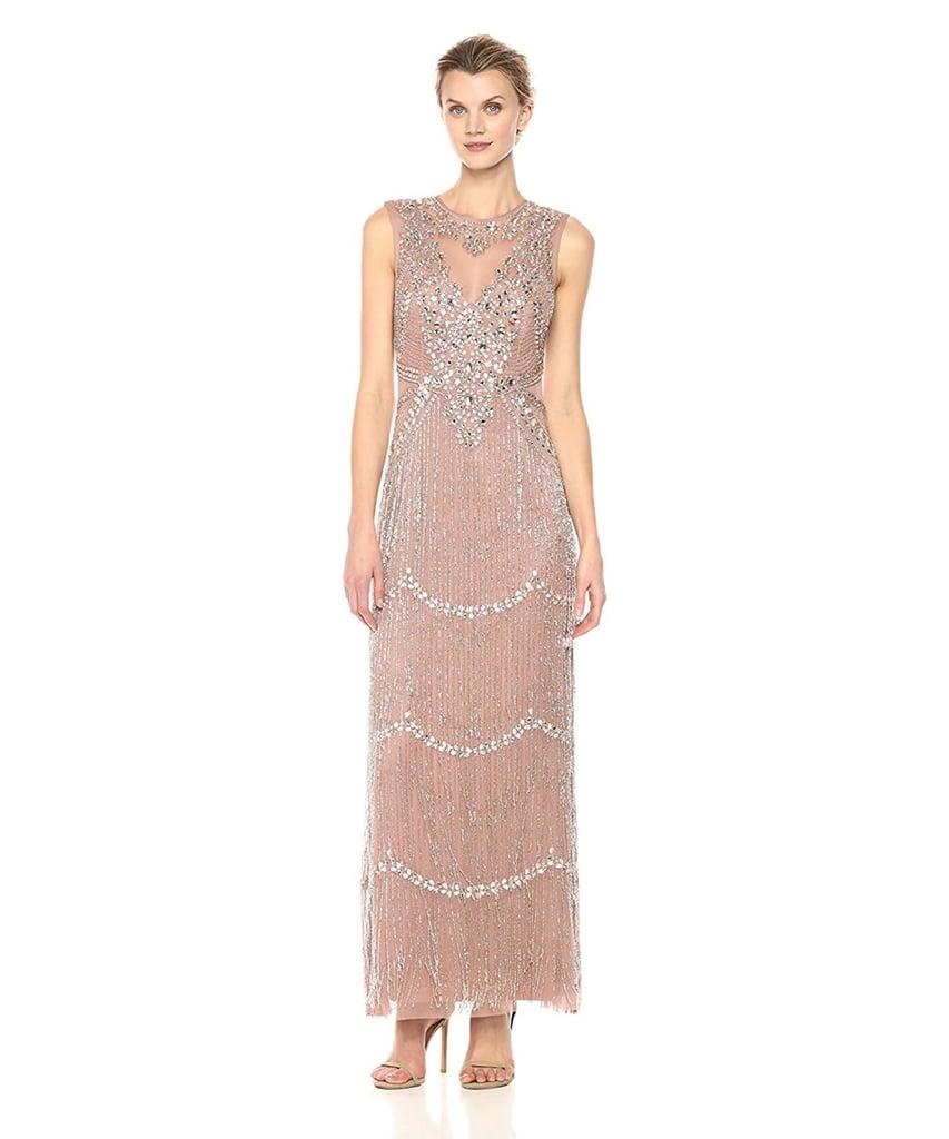 Aidan Mattox Beaded Fringe Gown | Chrissy Teigen\'s Silver Fringe ...