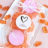 Personalized Champagne Gummy Bear Packets