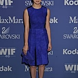 Hailee Steinfeld went for a blue look.