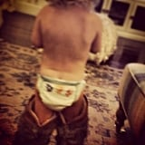 Maxwell Wearing Mom's Cowboy Boots