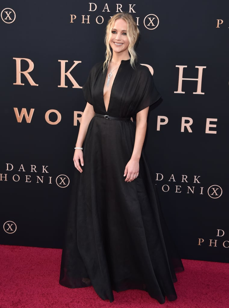 At the premiere of Dark Phoenix on June 4, 2019, Jennifer wore a Dior look from the Resort 2020 collection with Giuseppe Zanotti sandals.