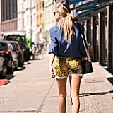 If you need to make one statement this weekend, do it with a seriously cool pair of printed shorts. Photo courtesy of Lookbook.nu