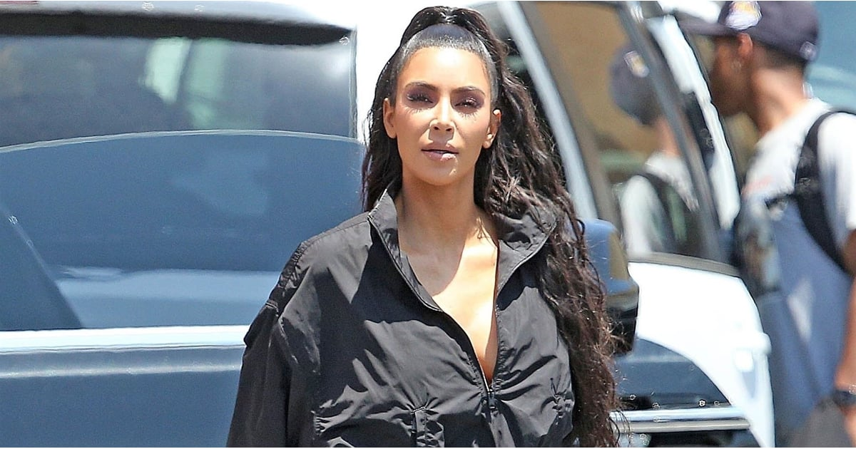 5b3056960d203 Kim Kardashian Just Made Your Post-SoulCycle Outfit Look Chic