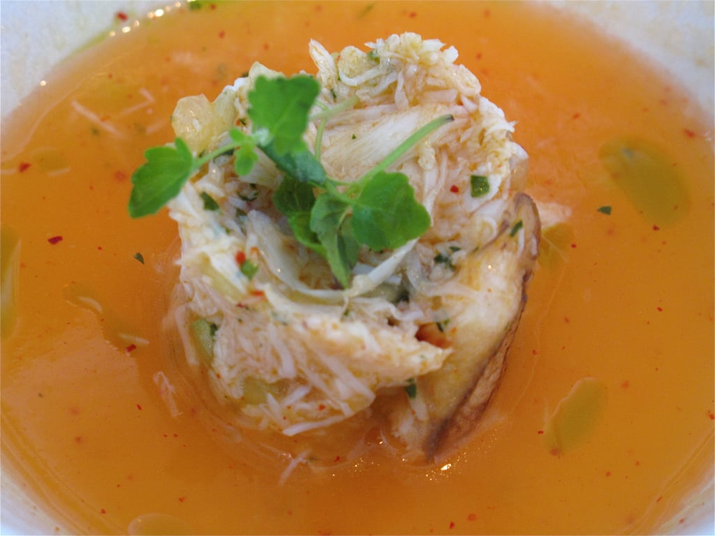 Dungeness Crab With Melon Gazpacho