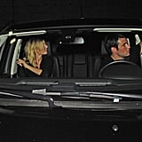 Emily VanCamp and Josh Bowman hopped in their car after leaving Playhouse.