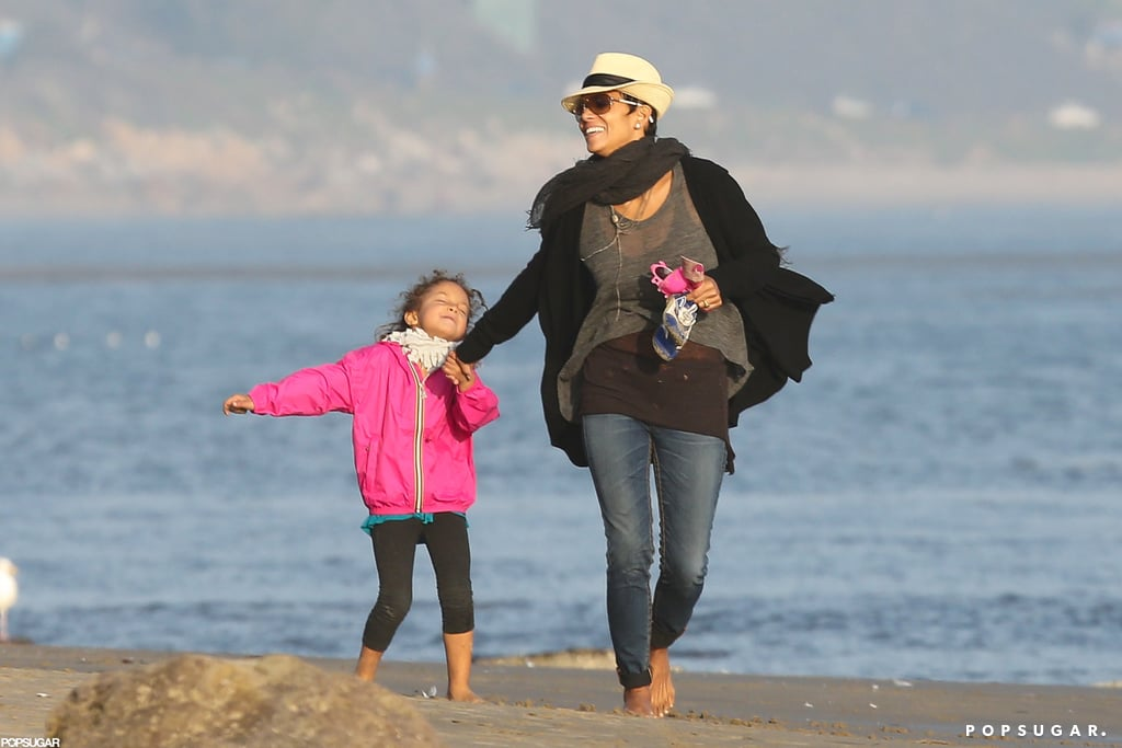 Halle Berry enjoyed a day at the beach with daughter Nahla.
