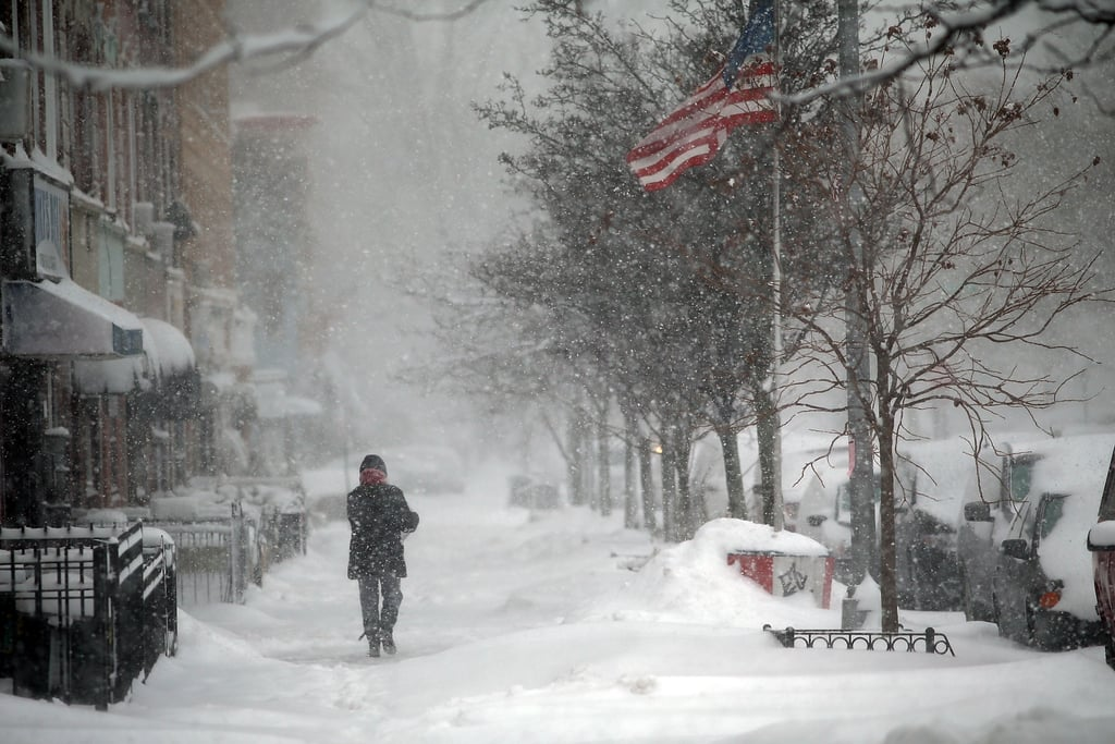 Brooklyn, NY, saw plenty of wind and snow during the blizzard-like storm.