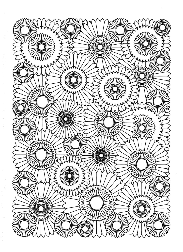 Free Coloring Pages For Adults Abstract Flowers, Download Free ... | 1024x744