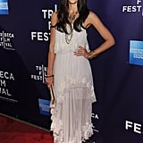 Jessica Alba wore a feminine layered dress to the The Killer Inside Me premiere in April 2010.