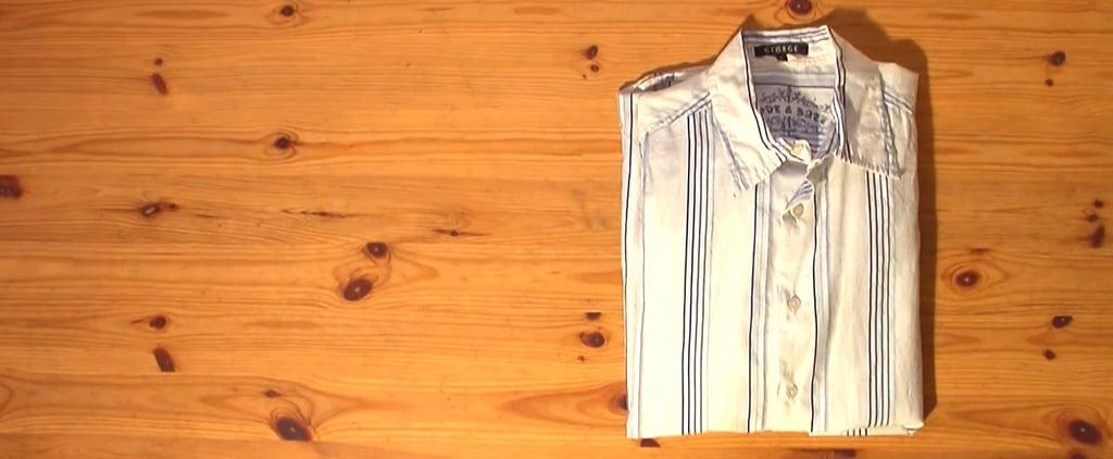 كيف تطوي القميص بسرعة كبيرة