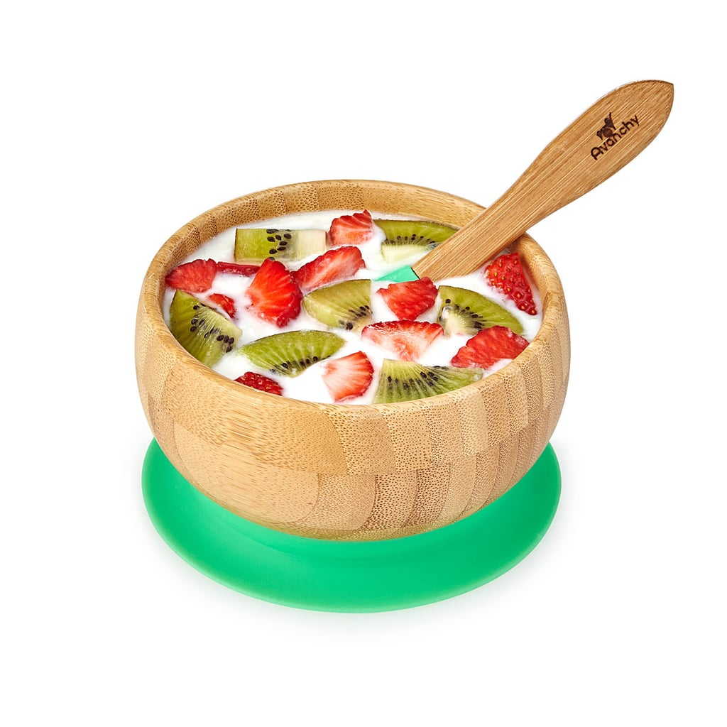 For 1-Year-Olds: Bamboo Suction Baby Bowl Set