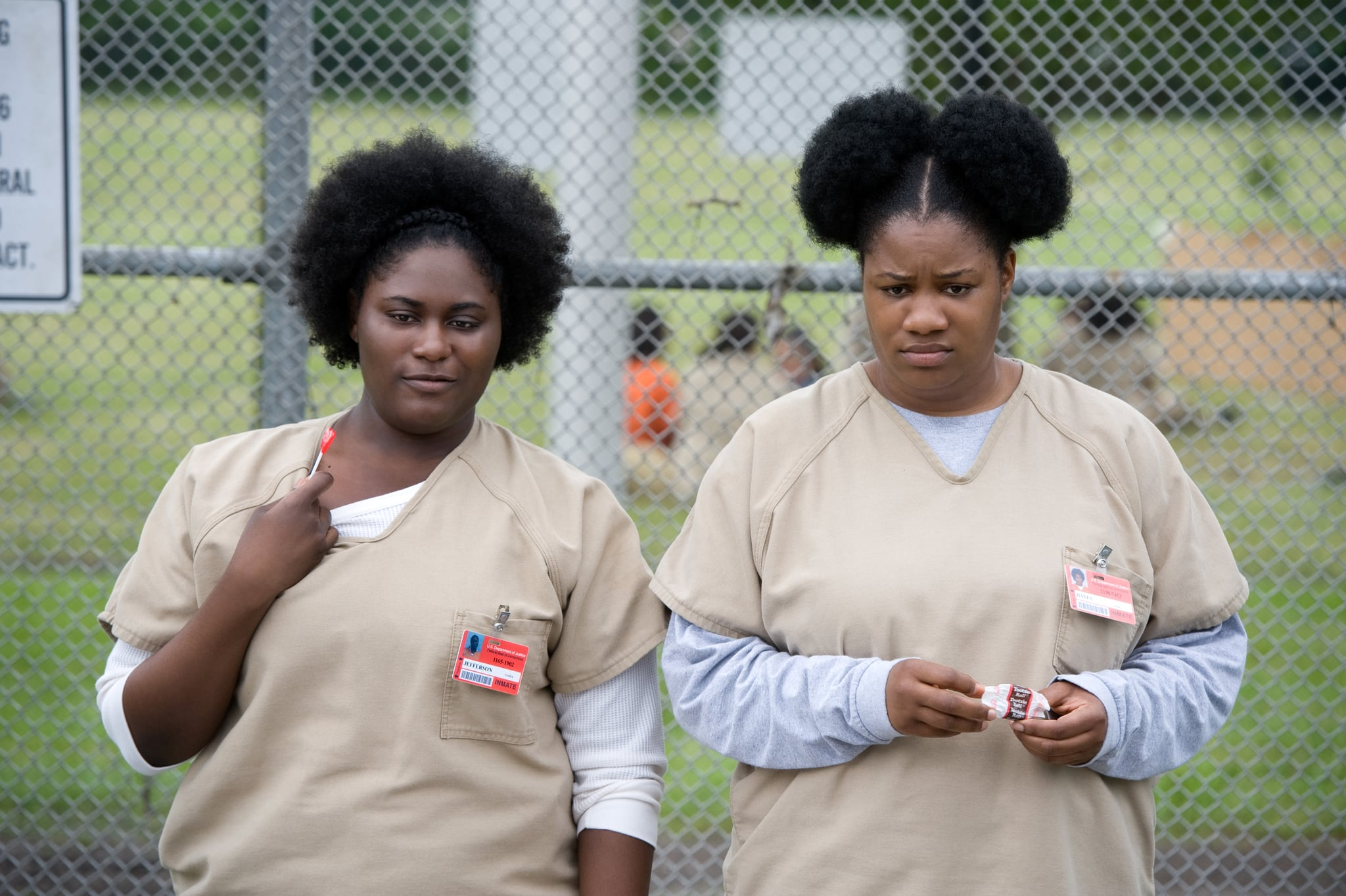 ORANGE IS THE NEW BLACK, (from left): Danielle Brooks, Adrienne C. Moore, 'Mother's Day', (Season 3, ep. 301, aired June 12, 2015). photo: JoJo Whilden / Netflix / courtesy Everett Collection