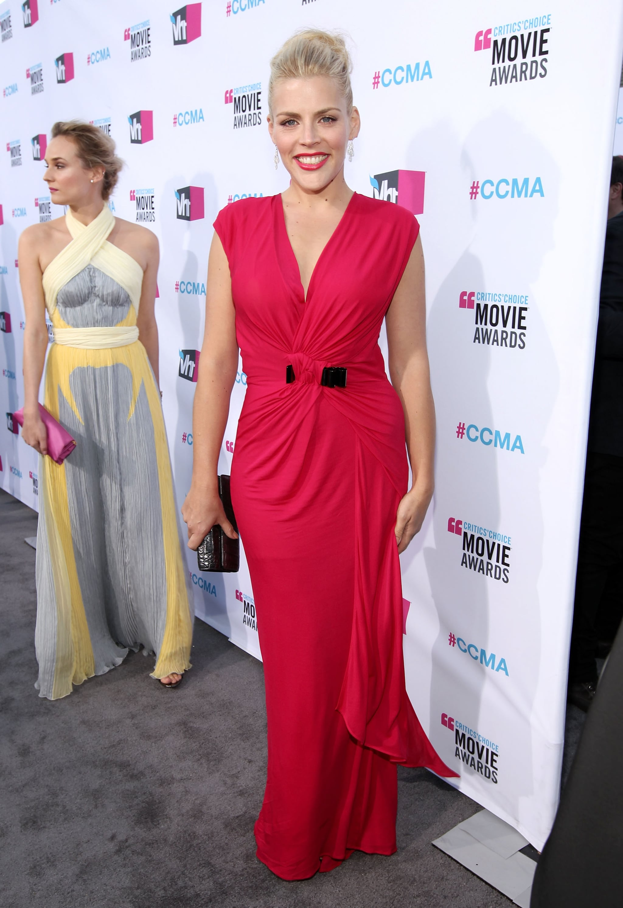 Busy Philipps lead the way on the red carpet for Diane Kruger at the 2012 Critics' Choice Movie Awards.