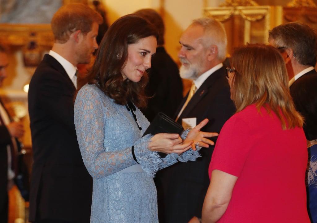 Kate Middleton Blue Temperley London Dress
