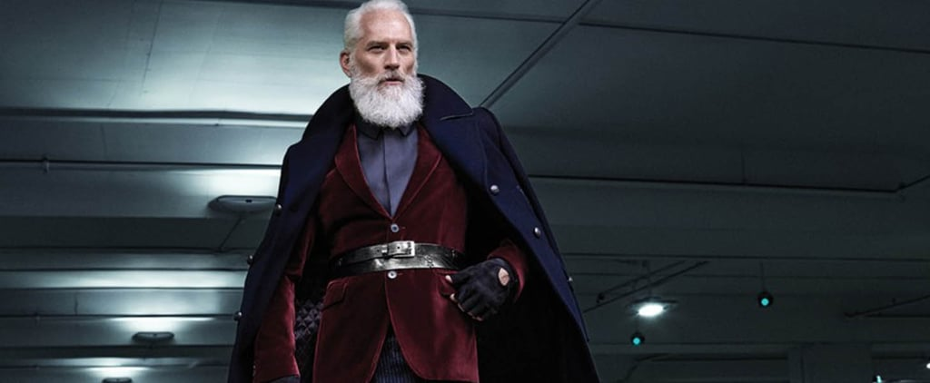 "This Mall's ""Fashion Santa"" Is a Designer-Clad Silver Fox"