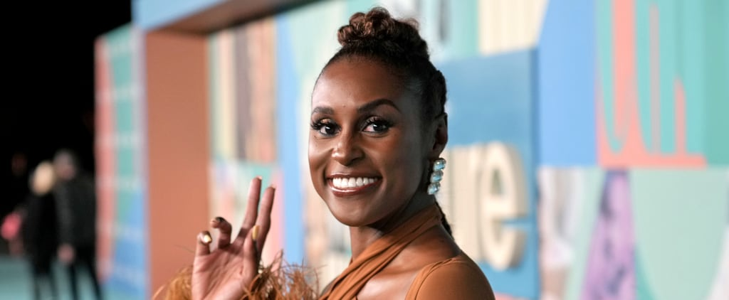 Issa Rae Wears a Sexy Feather-Trimmed Dress by Rokh