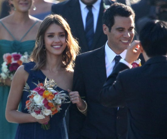 Slide Picture of Jessica Alba and Cash Warren at Wedding
