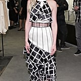 Kirsten attended the Rodarte book launch party in 2014 wearing a grid pattern dress from the label.