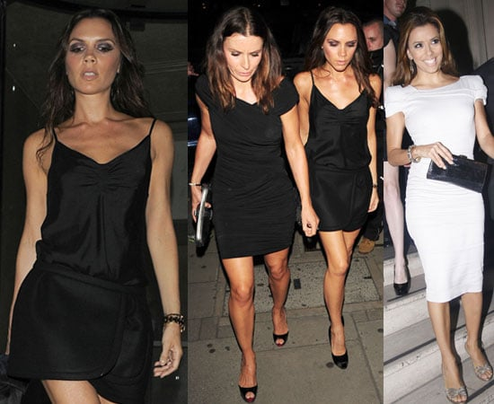 Pictures of Victoria Beckham at Maze in London With Eva Longoria and the Ramsays