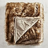 Pier 1 Imports Faux Fur Wolf Throw