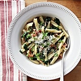 Pasta With Bacon and Spinach