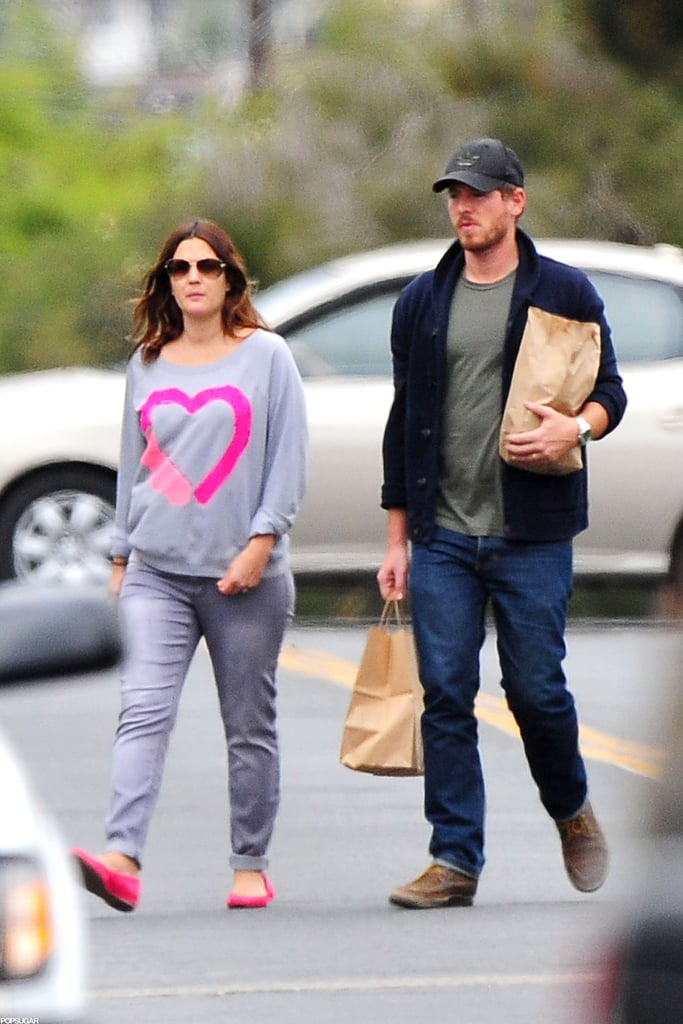 Drew Barrymore and Will Kopelman got takeout from Three Pickles.