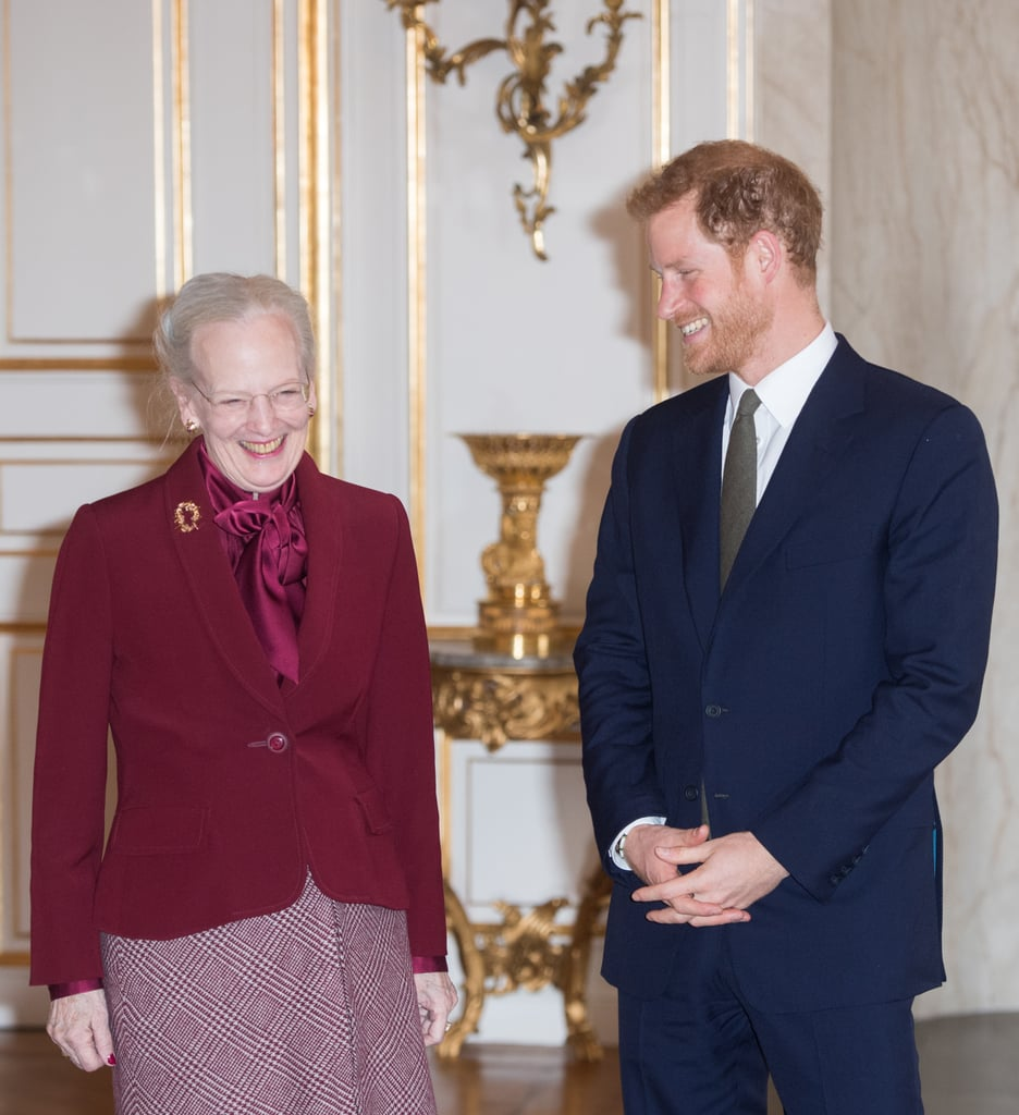 When Queen Margrethe Couldn't Stop Giggling Next to Harry