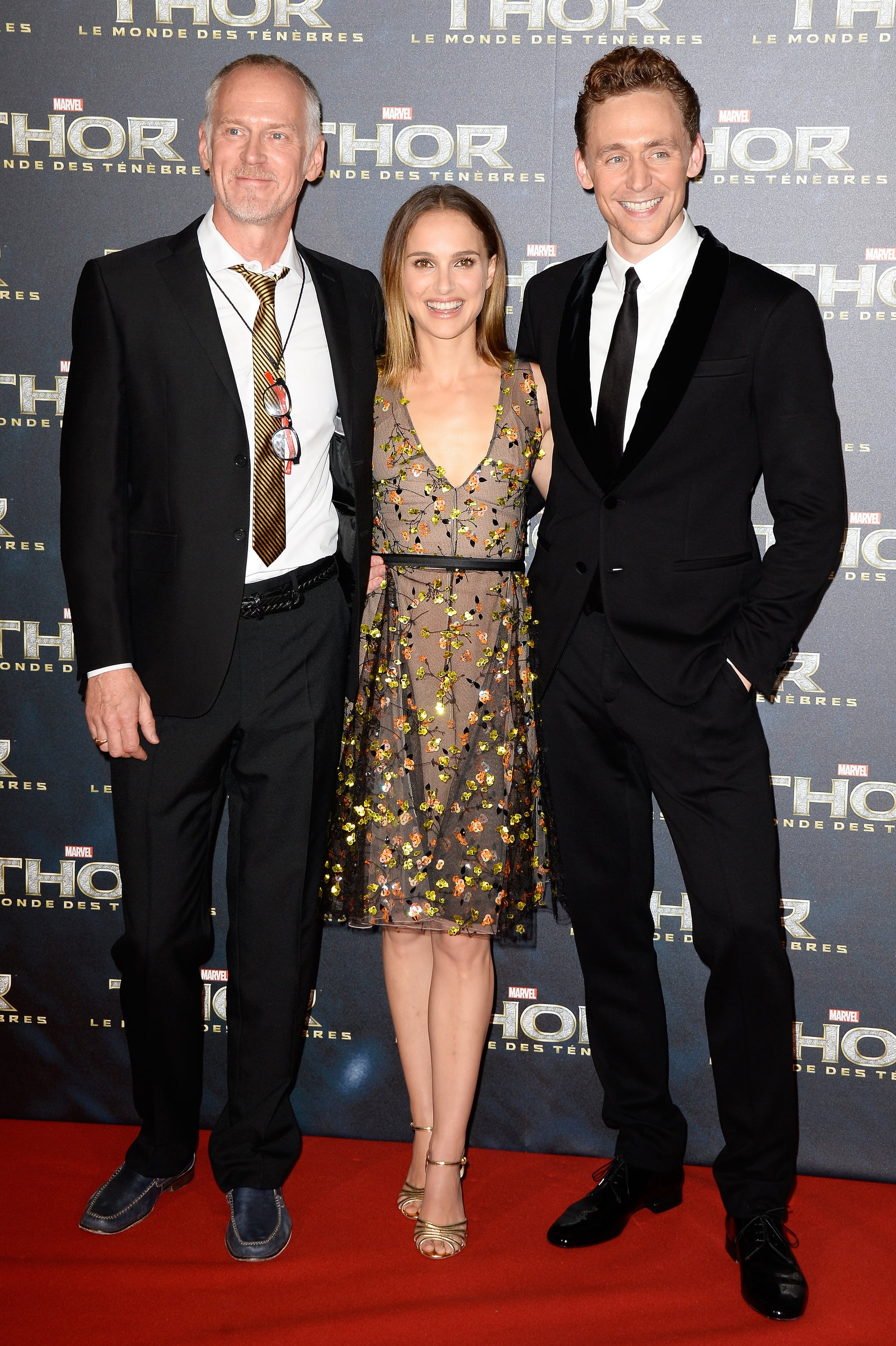Director Alan Taylor joined Natalie Portman and Tom Hiddleston on the red carpet at the Paris premiere of Thor: The Dark World on Wednesday.