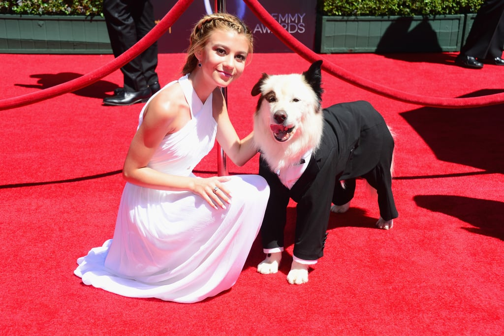 Best Buddies Genevieve Hannelius Brought Her Dog With A