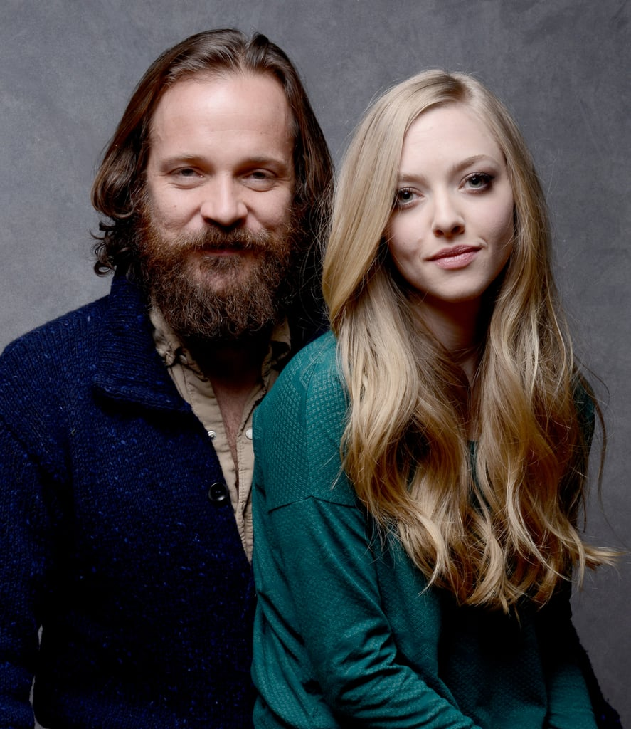 Amanda Seyfried looked beautiful promoting Lovelace alongside co-star Peter Sarsgaard.