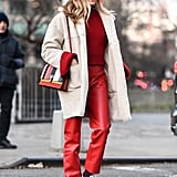 How to Wear a Monochrome Outfit in Red