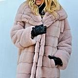 Aofur Faux Fur Hooded Coat