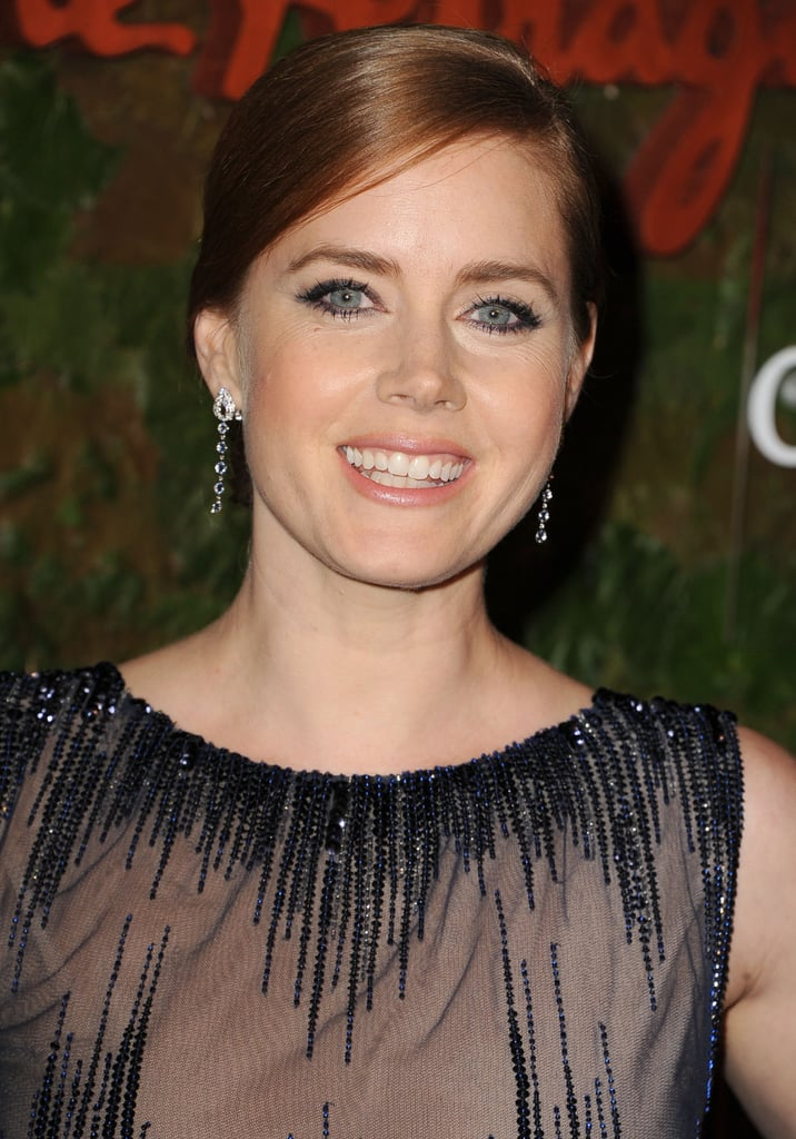 It was full-on glamour for Amy Adams, whose slick updo paired gorgeously with her kohl-rimmed eyes.